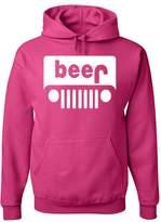 Tee Hunt Beer Funny Hoodie Jeep Parody Beer Drinking Sweatshirt M
