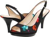 Nine West Sharina (Black Multi Fabric) - Footwear