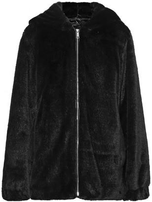 Helmut Lang Oversized Faux Fur Hooded Jacket