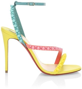 Christian Louboutin Mafaldina Spike Colorblock Leather Sandals