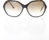Thakoon Black Brown Oval Frame Hexagon Sunglasses