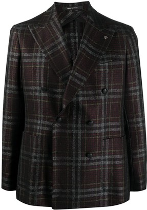 Tagliatore Double-Breasted Checked Blazer