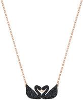 Swarovski Iconic Swan Double Necklace, Black