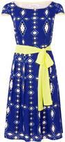 Libelula Beatrix Dress - Zig Zag Diamond Print - Blue