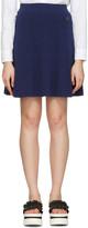 Kenzo Navy Flared Iconic Miniskirt