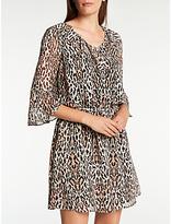 Somerset by Alice Temperley Leopard Flute Sleeve Dress, Multi