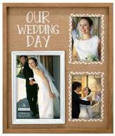 "Malden® Malden® 3-Photo ""Our Wedding Day"" Burlap Collage Picture Frame"