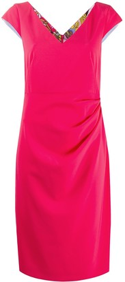 Boutique Moschino Gathered Side Detail Dress