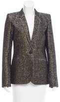 Barbara Bui Metallic Wool Blazer