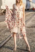 A'reve Floral Sheer Vest