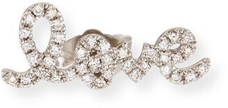 Sydney Evan Pave Diamond Love Single Stud Earring