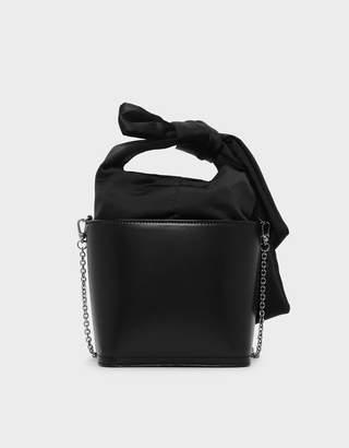 Charles & Keith Bow Detail Handle Bucket Bag