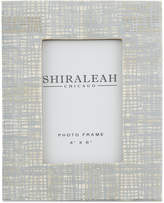 "Shiraleah Griggio Silver Foiled 4"" x 6"" Picture Frame"