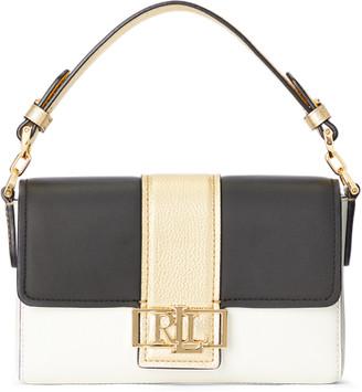 Ralph Lauren Metallic Leather Spencer Shoulder Bag