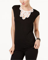 INC International Concepts Colorblocked Keyhole Top, Created for Macy's