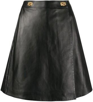 Givenchy Leather Buckle-Embellished Skorts