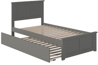Atlantic Furniture Madison Platform Bed with Matching Foot Board with Twin Size Urban Trundle Bed in Multiple Colors and Sizes