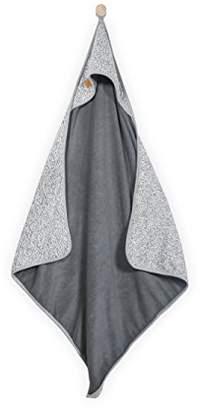 Camilla And Marc Jollein Stonewashed Bath Cape, 75 x 75 cm, Knit Grey