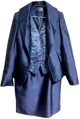 R&Renzi R & Renzi Navy Silk Jacket for Women Vintage