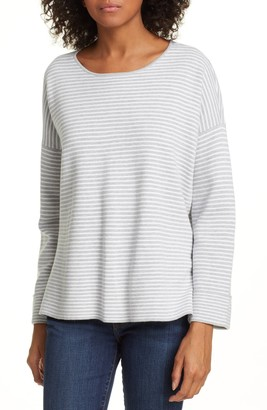 Eileen Fisher Round Neck Boxy Top (Petite)