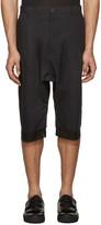 Alexandre Plokhov Black Double Cuff Shorts