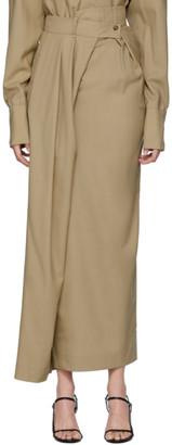 A.W.A.K.E. Mode Beige Pirt Pants-Skirt