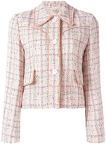 Miu Miu buttoned jacket - women - Cotton/Linen/Flax/Polyamide/Wool - 38