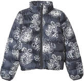 Joe Fresh Kid Girls' Quilted Funnel Jacket, JF Midnight Blue (Size S)
