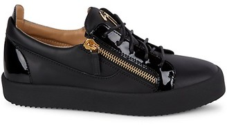 Giuseppe Zanotti Two-Tone Leather Low-Top Platform Sneakers