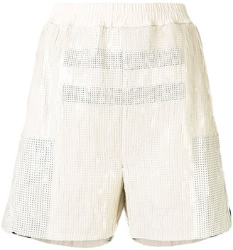 Rick Owens Dolphin sequin embroidered shorts