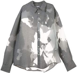Cmmn Swdn transparent panels shirt