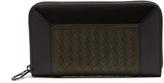 Bottega Veneta Intrecciato-panel zip-around leather wallet