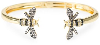 Cz By Kenneth Jay Lane Look Of Real Goldplated & Cubic Zirconia Bumblebee Cuff Bracelet