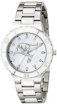 Game Time NFL Women's 10027081 Pearl Analog Display Japanese Quartz Silver Watch