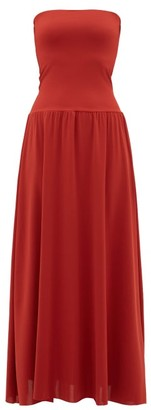 Eres Oda Strapless Jersey Dress - Womens - Red