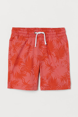 H&M Twill Shorts - Orange