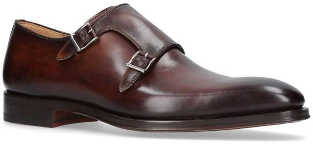 Magnanni Burnished Double Monk Shoes