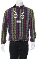 Fendi No Face Leather-Trimmed Jacket