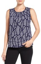 Anne Klein New York Print Front Shell