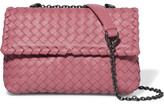 Bottega Veneta Olimpia Baby Intrecciato Leather Shoulder Bag - Pink