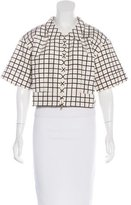Prada Silk Checkered Jacket