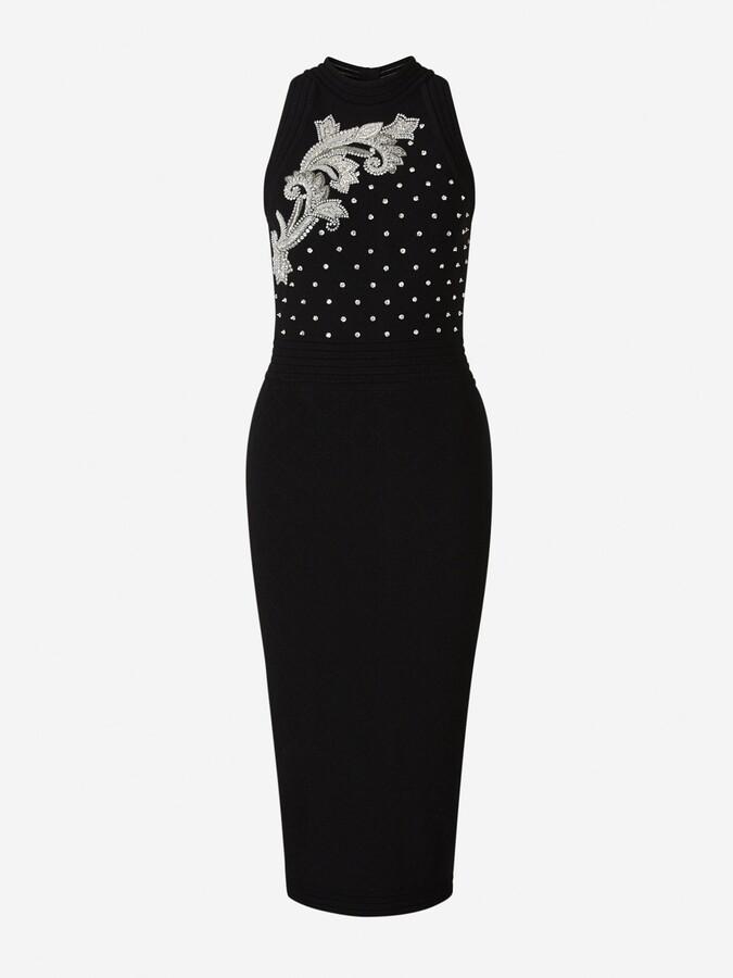 Balmain Embroidered Sleeveless Midi Dress