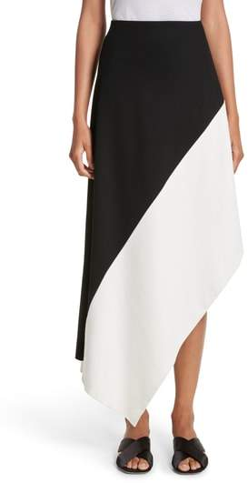 Rosetta Getty Slashed Panel Jersey Skirt