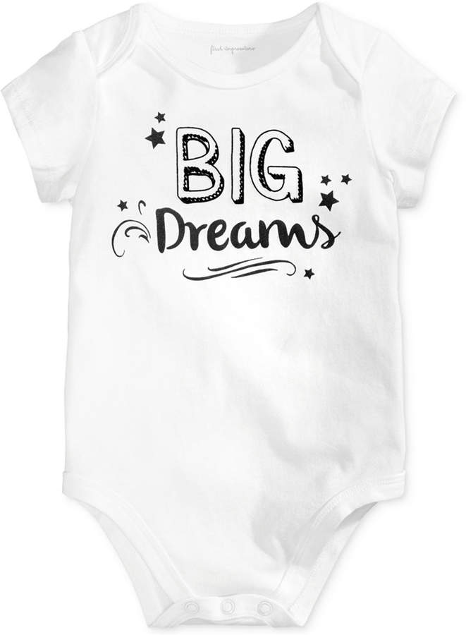 First Impressions Big Dreams Cotton Bodysuit, Baby Boys & Girls (0-24 months), Created for Macy's