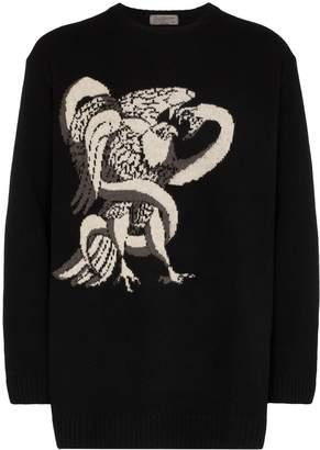 Yohji Yamamoto intarsia knit jumper