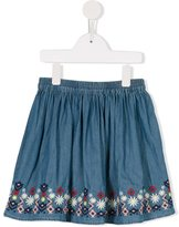 Margherita Kids embroidered hem denim skirt