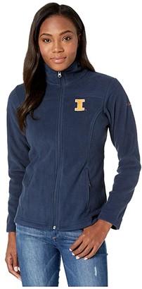 Columbia College Illinois Fighting Illini CLG Give and Gotm II Full Zip Fleece Jacket (Collegiate Navy) Women's Fleece