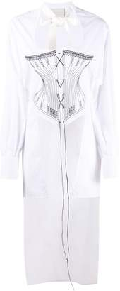 Seen Users Stitched Corset Shirt
