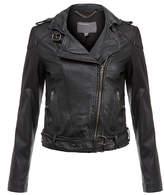 Muu Baa Muubaa Asha Black Leather Biker