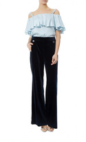 Temperley London Velvet Button Pants